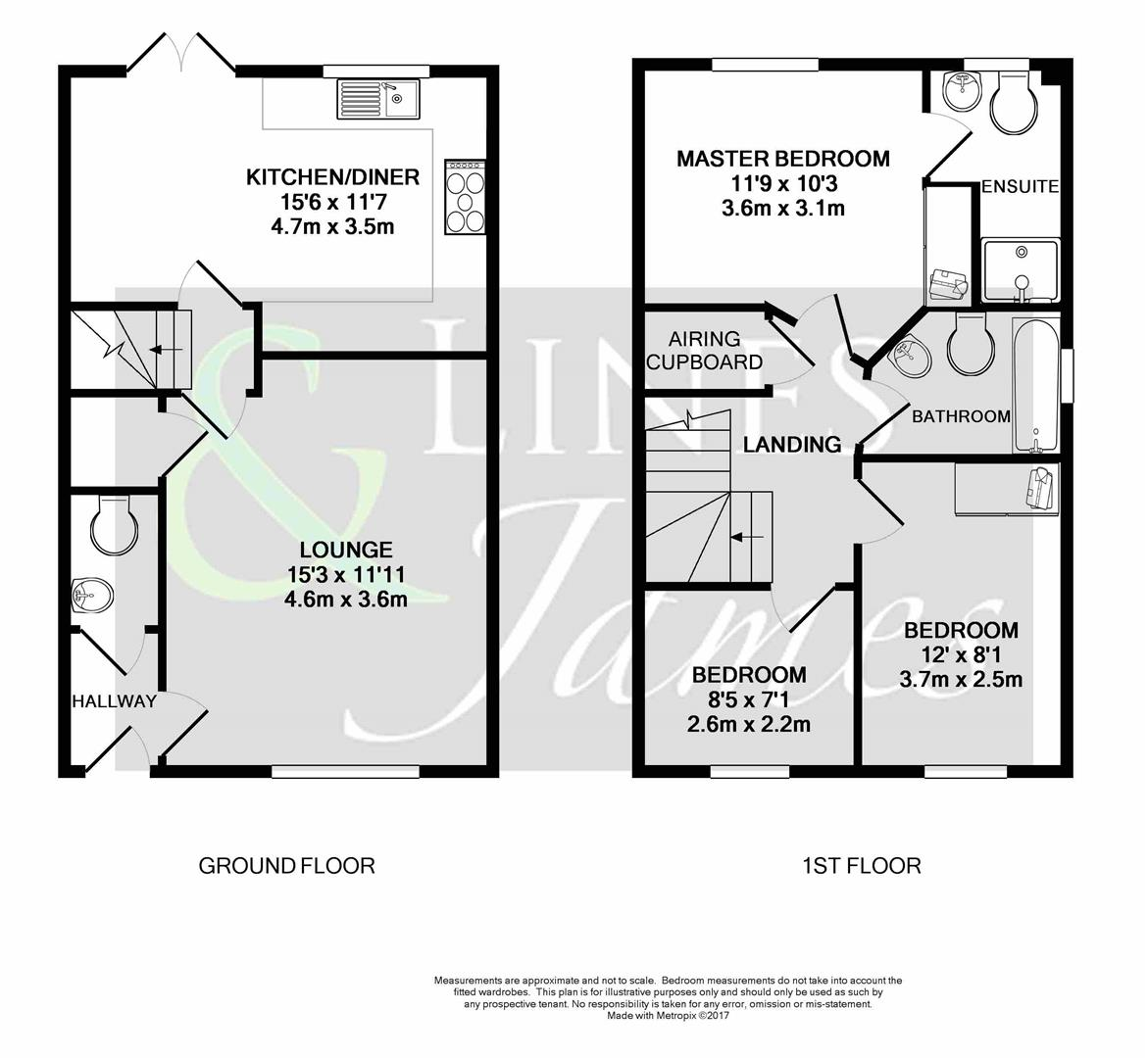 Floorplan for Buck Way, Horsham